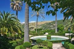 Openbare tuin in Sicilië Stock Foto