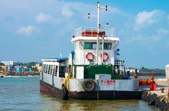 Openbare veerboot in Kanyakumari, India Stock Foto
