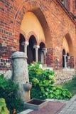 Openbare Waterfontein binnen de binnenbinnenplaats van de Kathedraal van Riga Royalty-vrije Stock Afbeelding