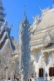 Openbare witte tempel met duidelijke hemelachtergrond Royalty-vrije Stock Afbeelding