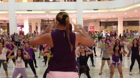 Openbare Zumba-Dans stock video