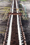 Opencast угольная шахта бурого угля Ленточный транспортер Стоковое фото RF
