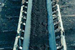 Opencast угольная шахта бурого угля Ленточный транспортер Стоковые Изображения RF