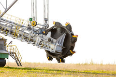 Opencast угольная шахта бурого угля Экскаватор колеса ведра Стоковые Фотографии RF