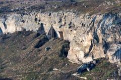 Вид с воздуха промышленный opencast карьера минирования мела стоковое фото