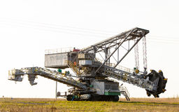 Opencast brown coal mine. Bucket wheel excavator. Stock Image