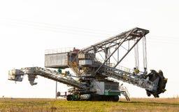 Opencast brown coal mine. Bucket wheel excavator. Stock Image