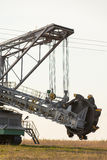 Opencast brown coal mine. Bucket wheel excavator. Royalty Free Stock Image