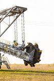 Opencast brown coal mine. Bucket wheel excavator. Stock Photo