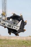 Opencast brown coal mine. Bucket wheel excavator. Royalty Free Stock Images