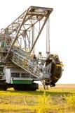 Opencast brown coal mine. Bucket wheel excavator. Royalty Free Stock Photo