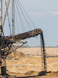 Opencast brown coal mine. Giant excavator. Stock Images