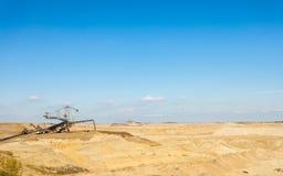 Opencast brown coal mine. Open pit. Stock Photo