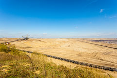 Opencast brown coal mine. Open pit. Royalty Free Stock Image