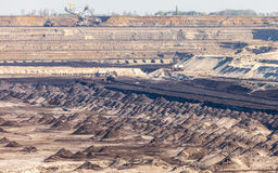 Opencast brown coal mine. Open pit. Stock Image