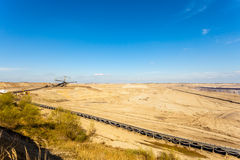 Opencast brown coal mine. Open pit. Royalty Free Stock Photography