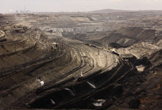 Opencast coal mine. This surface mine was built in 1960, mainly the production of lignite-based, with an annual output of nearly 200 million tons of coal over 40 stock photos