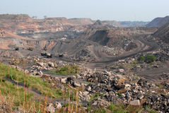 Opencast Coal Mine Royalty Free Stock Photography
