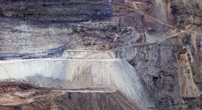 An opencast coal mine Royalty Free Stock Photos