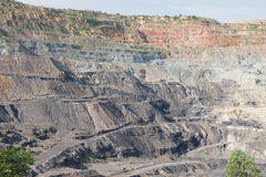Opencast coal mine showing benches Stock Images