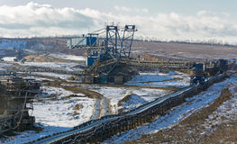 Opencast coal mine Royalty Free Stock Images