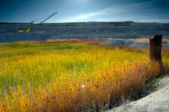 Opencast mine. With view of lake Royalty Free Stock Images
