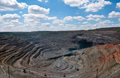 Opencast mine Royalty Free Stock Photography