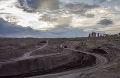 Opencast mine waste Stock Photo
