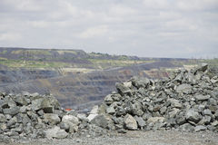 Opencast mining Royalty Free Stock Photo