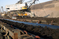 Opencast mining Royalty Free Stock Photography