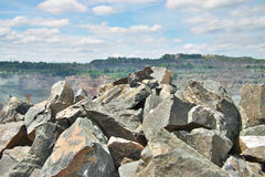 Opencast mining Royalty Free Stock Image