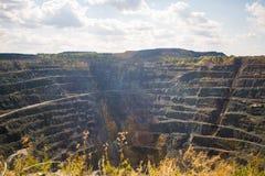 Opencast mining quarry. Timelapse Stock Photos
