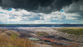 Opencast Mining, Time Lapse stock video