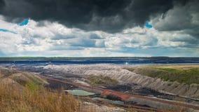 Opencast Mining, Time Lapse. Coal Mine, Time Lapse FPS: 30, Original Frame Format: Camera Raw image 16 bit Video Codec: Photo Jpeg, No sound stock video