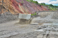 Opencast road Royalty Free Stock Photography