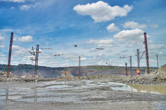 Opencast road Royalty Free Stock Photo