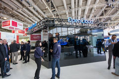 OpenCloud stand in booth of Huawei company at CeBIT Stock Photography