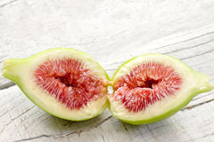 Opende fig with ripe pulp Royalty Free Stock Photos