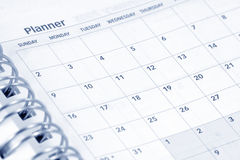 Opened agenda Stock Photos