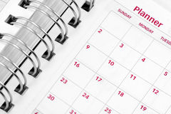 Opened agenda Royalty Free Stock Photo