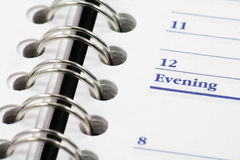 Opened agenda Stock Photography