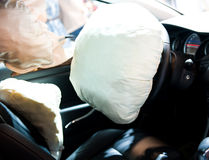 Opened airbag Stock Photos