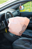 Opened airbag Royalty Free Stock Photos