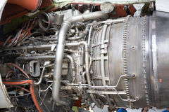 Opened aircraft engine stock photography