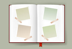 Opened Album With Blank Photo Frames Royalty Free Stock Images