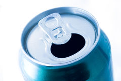 Opened aluminium bottle Royalty Free Stock Photography