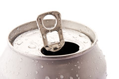 Opened aluminum can Royalty Free Stock Photo