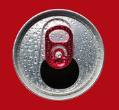 Opened aluminum can closeup Royalty Free Stock Photos
