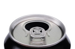 Opened aluminum can for soft drinks Royalty Free Stock Photo