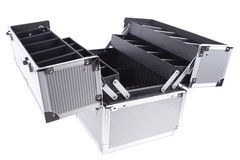 Opened aluminum case Royalty Free Stock Photo